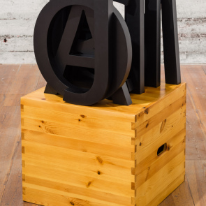Sculpture/skulptur: All my letters (from exhibition A lot), Uppsala konstmuseum 2016
